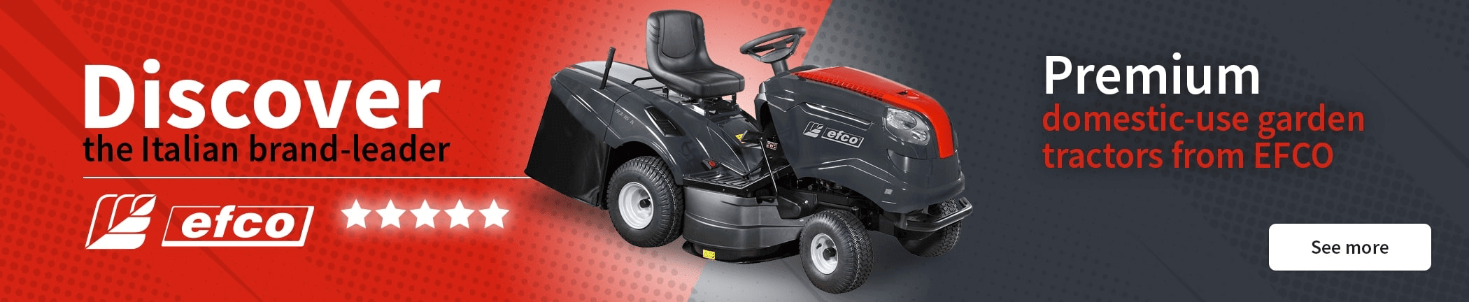Discover the range of garden tractors from EFCO
